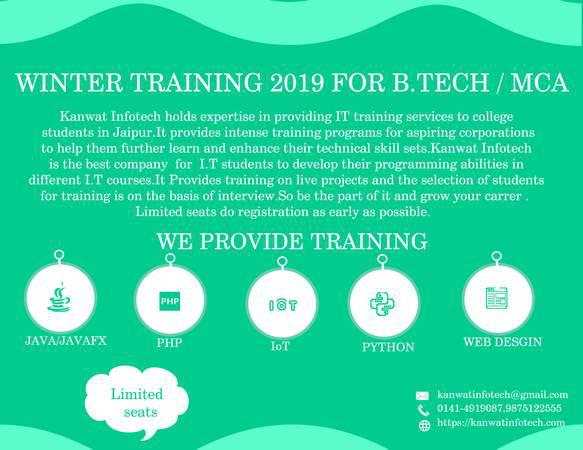 Best winter internship industrial training java for mca vi