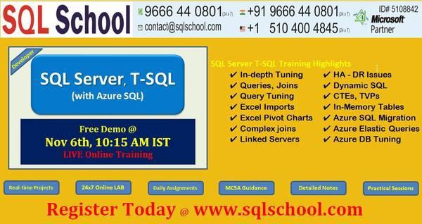 Microsoft sql server database training - lessons & tutoring