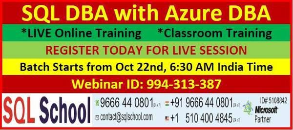 Sql dba with azure dba training - lessons & tutoring