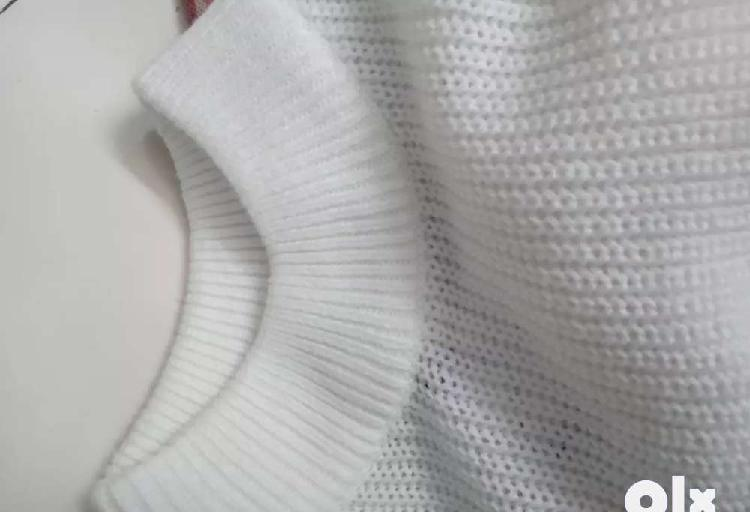 Winter white sweater