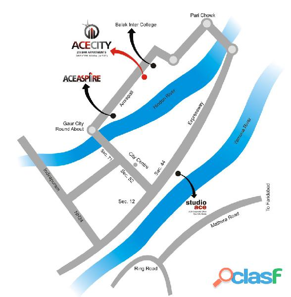 Ace City Ready To Move 3BHK Flats |Noida Extension | 9911487788 1