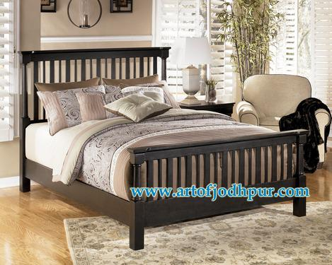Furniture online mango wood double bed