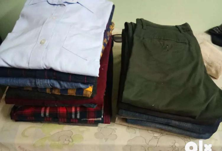 16 branded shirts and 5 levi's jeans for sale