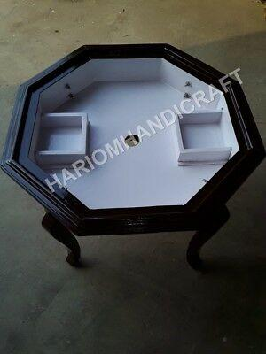 """18""""h 15"""" dia black marble base leg table top stand"""