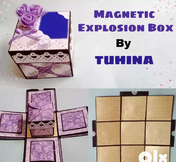 Magnetic explosion box