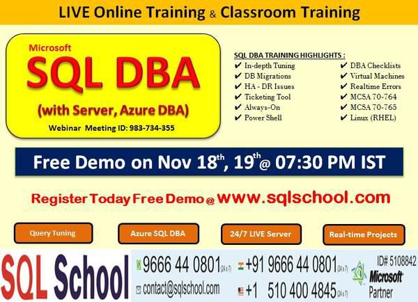 Sql dba training (with server, azure dba) - lessons &
