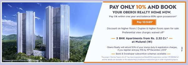 Eternia, 3 BHK apartment in Mulund West by Oberoi Realty -