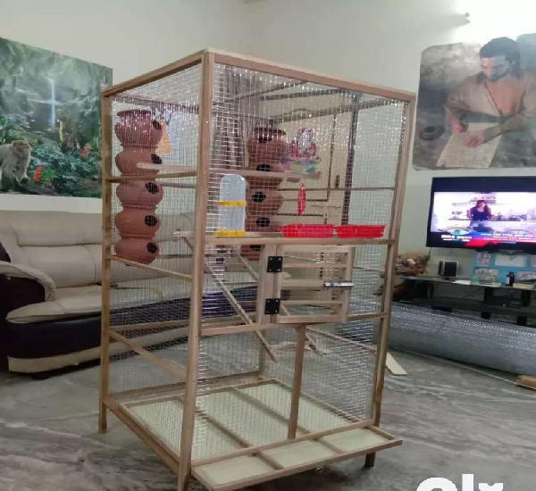 Rk teak wood birds cage & co