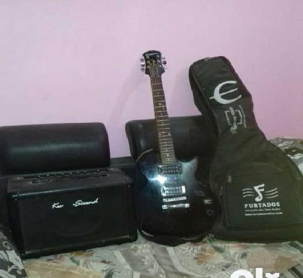 Epiphone guitar with bag and amplifier price negotiable