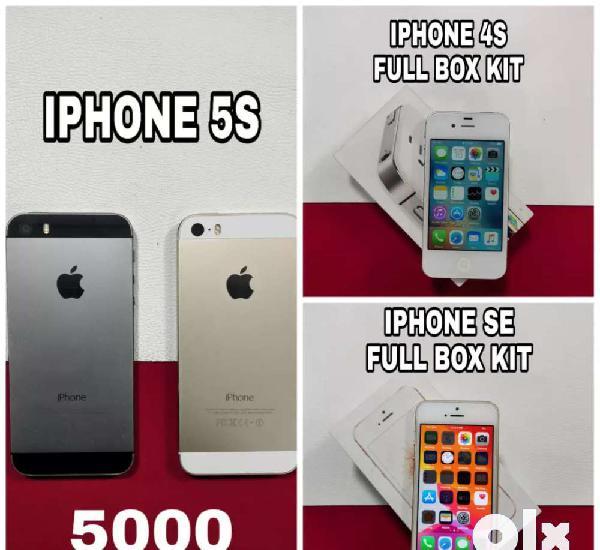 Iphone 5s, iphone 4s, iphone se 32gb storage, brand new