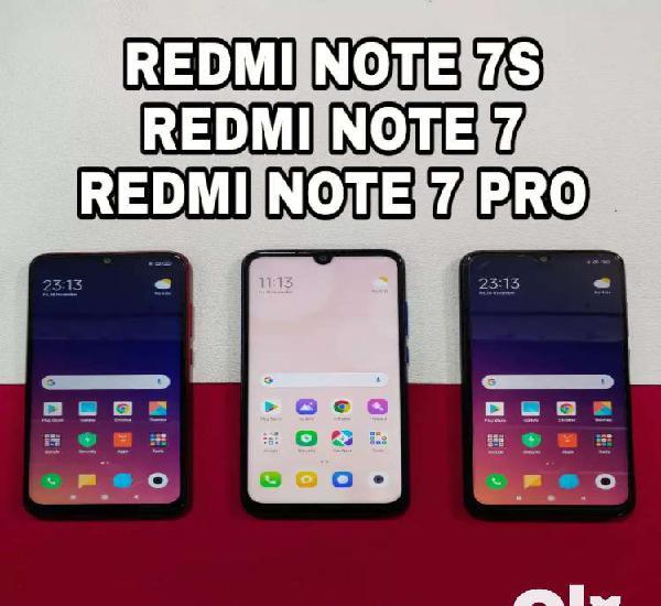Redmi note 7s, redmi note 7 pro, redmi note 7, all full box