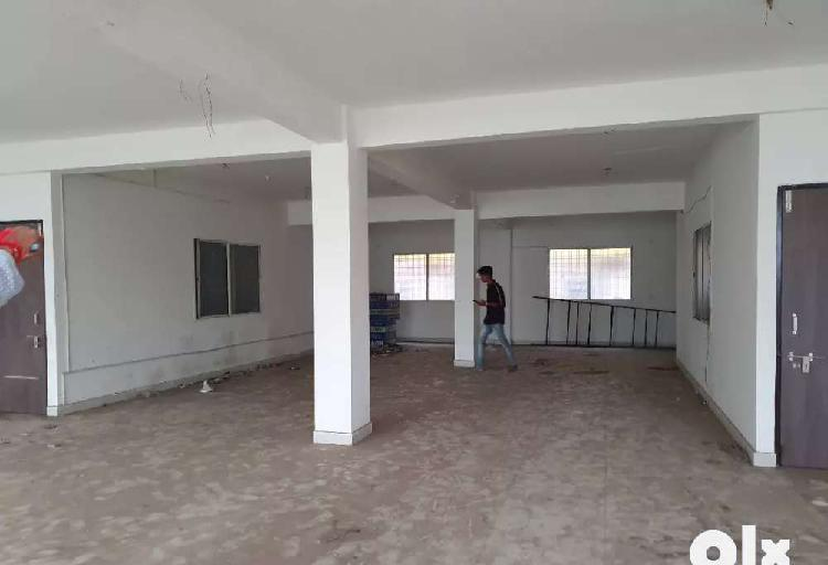 Rent for 1200 sq.ft first floor commercial hall in indrapuri