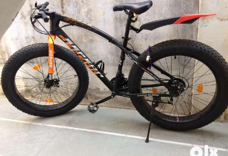 Bicycle black and orange