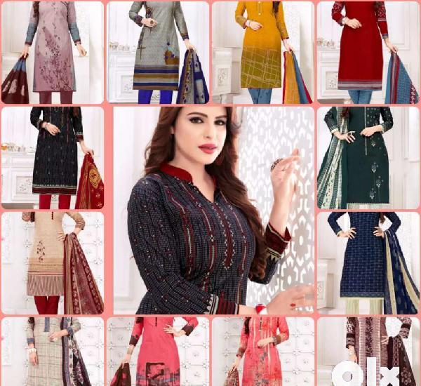 Women's Cotton Unstitched Dress Material