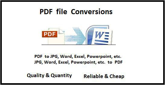 Batch processing: pdf file conversions, pdf edit, pdf merge