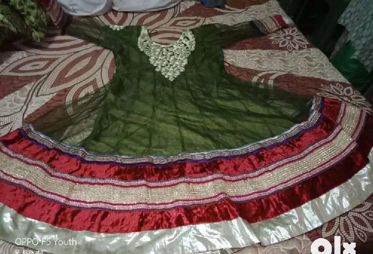 New long anarkali with pant