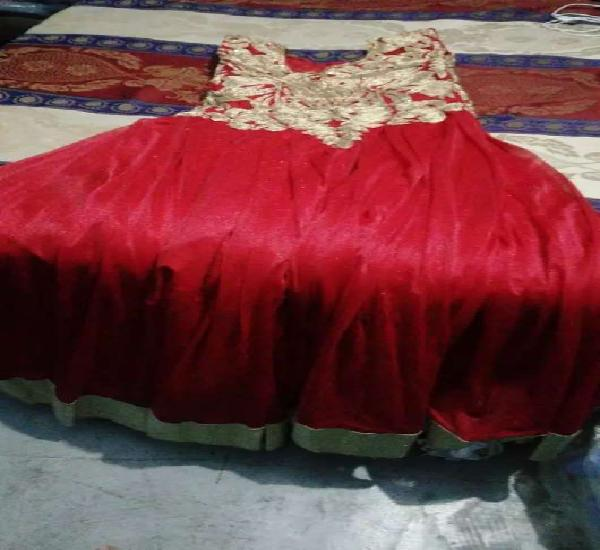One time use red gown