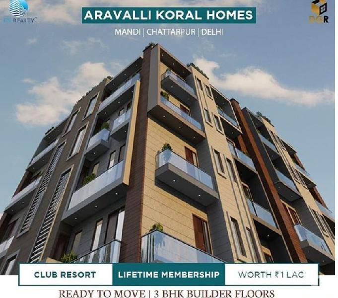 Serene avenue - flats for sale in chattarpur