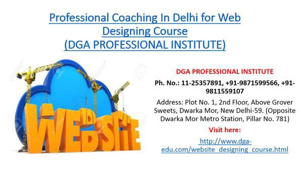Professional coaching in delhi for web designing & web