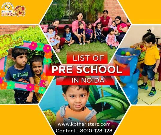 List of pre school in noida - creative services
