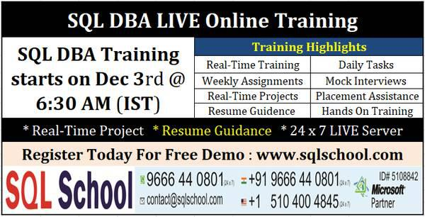 Best sql dba with azure dba training at sql school training