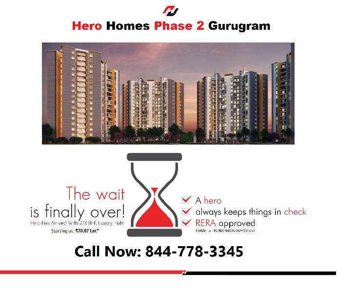 Comingup hero homes phase 2 gurgaon homes overview