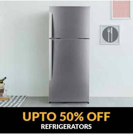 Enjoy upto 50% off on refrigerators - electronics - by