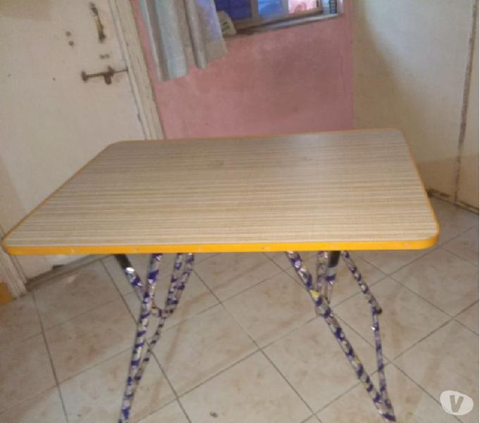 Study table and plastic chair for sale