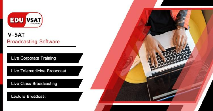 Vsat broadcasting software for live corporate training