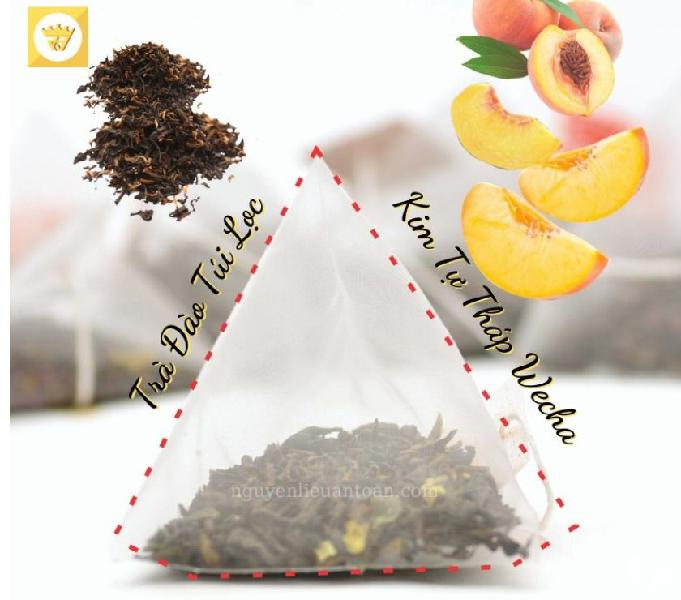 Pyramid peach tea bags