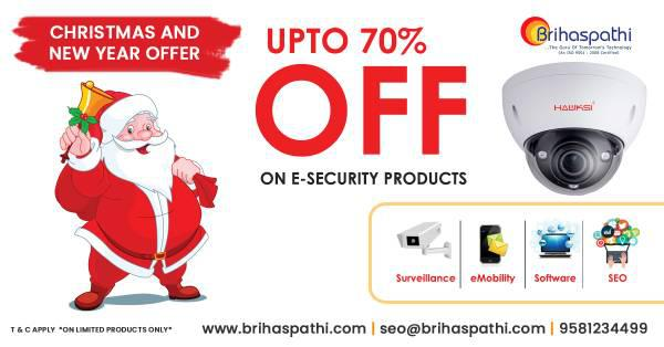 New year offer from brihaspathi 70% off on cctv cameras -