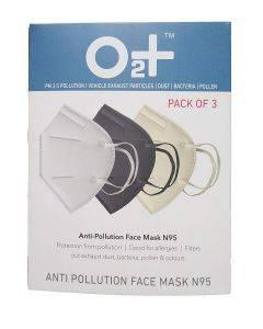 O2+ Anti Pollution Mask With N95 Active Carbon Grade Filter