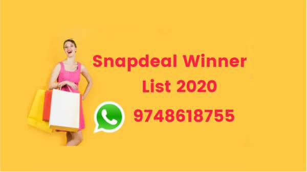 Snapdeal winner list 2019 - creative services