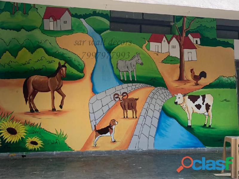 Painting ideas for play school wall painting in telangana