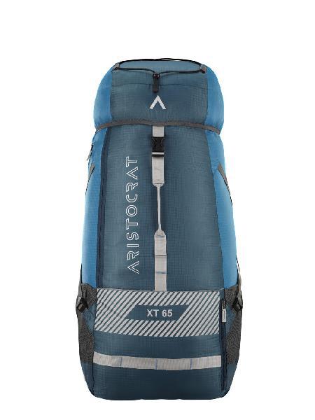 Aristocrat ascent 65l rucksack blue durable fabric backpac