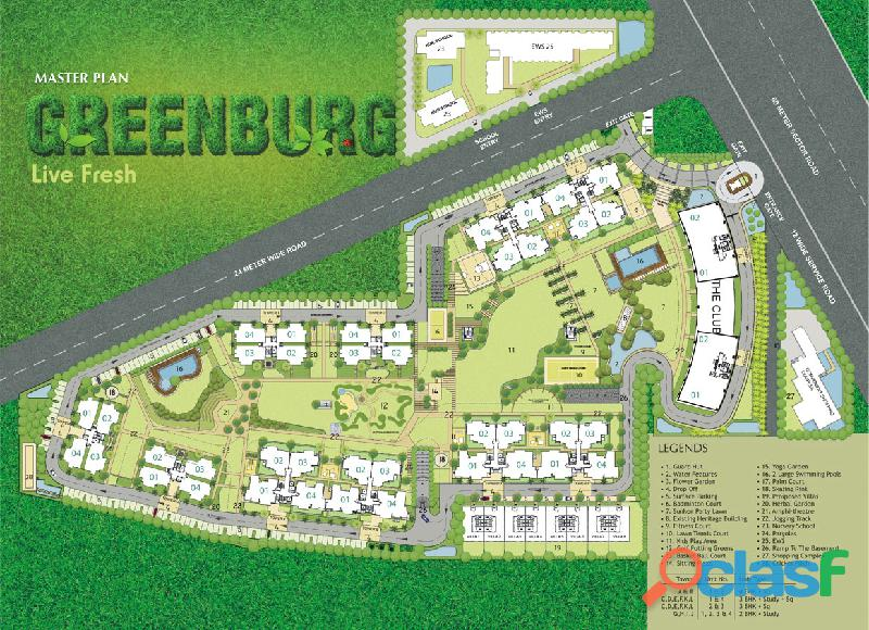 Microtek Greenburg – Ready to move 3BHK Homes at Sector 86