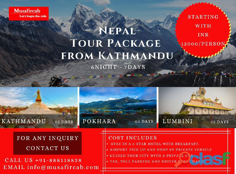 Nepal tour package from kathmandu | experience nepal and its astonishing destination with musafircab