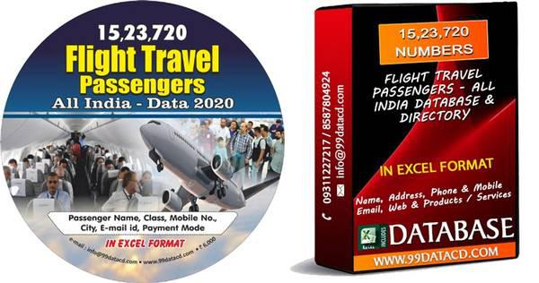 Domestic & international flight travel passenger - database,