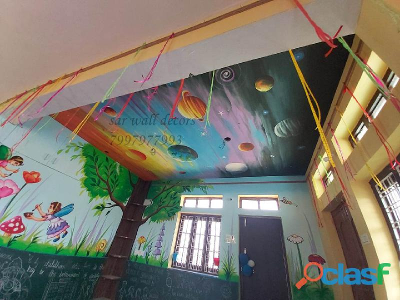 Classroom wall decoration for play school in hyderabad