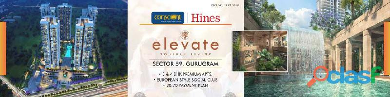 Conscient Luxury 3 & 4 BHK Apartments in Sector 59 at Elevate