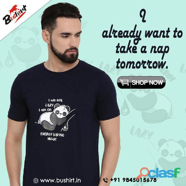Trendy and quality graphic t shirts in india   bushirt.in