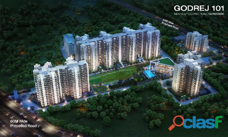 Godrej 101 gurgaon | luxury 2/3bed residences starts at 87 lacs