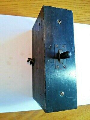 Antique telephone switch board switch box wood wooden 2