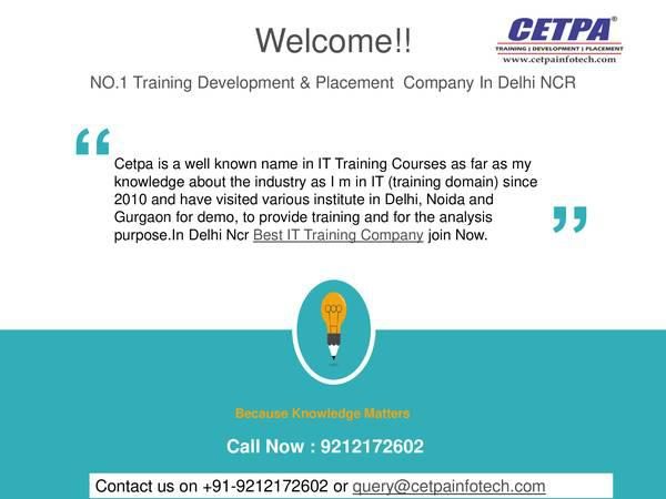 Best training companies in noida - computer services
