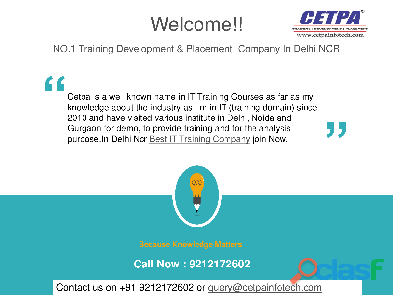 Best training companies in noida