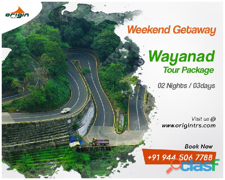 Enjoy your wayanad tour packages with best tour agents in chennai