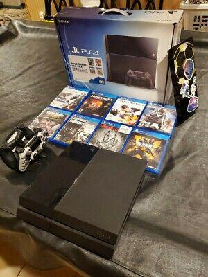 Play station 4 ps4 500gb console 8 game bundle with hdmi b