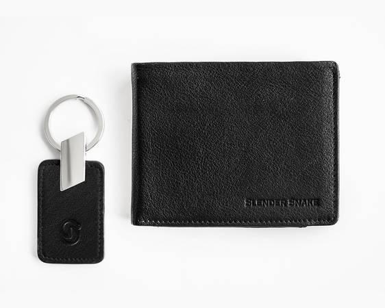 Slender snake worlds most thinnest mens leather wallet -
