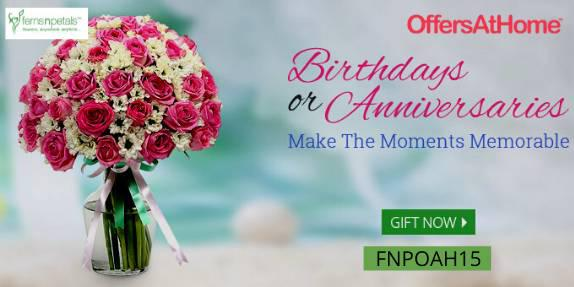Fnp coupons - get 15% off on birthday, anniversary gift -