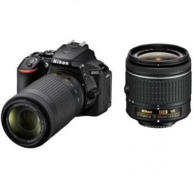 Nikon d5600 dslr camera body with dual lens afp dx nikkor